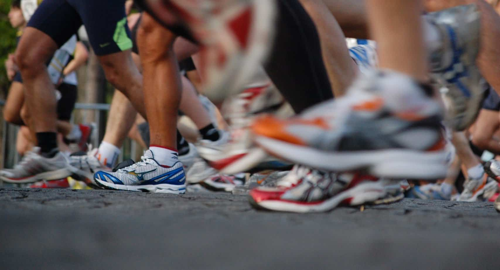 running-shoes-at-race