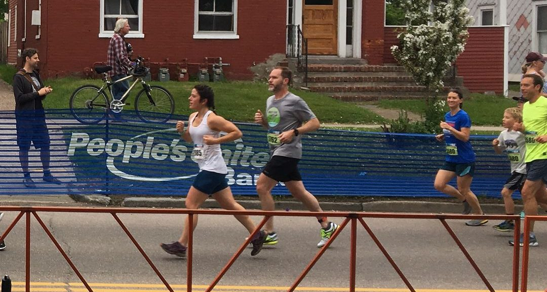 Ben Drew running the Burlington Vermont Marathon