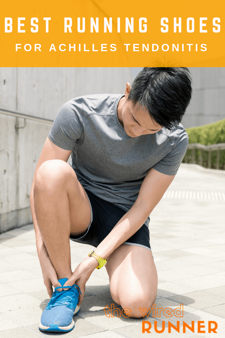 Achilles tendonitis is one of the most common injuries runners face. A good running shoe can help you while you recover. Running shoes with plenty of cushioning and a high heel-to-toe drop to limit strain placed on the Achilles are best for runners suffering from Achilles tendonitis.