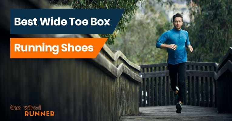 man running with wide toe box shoes