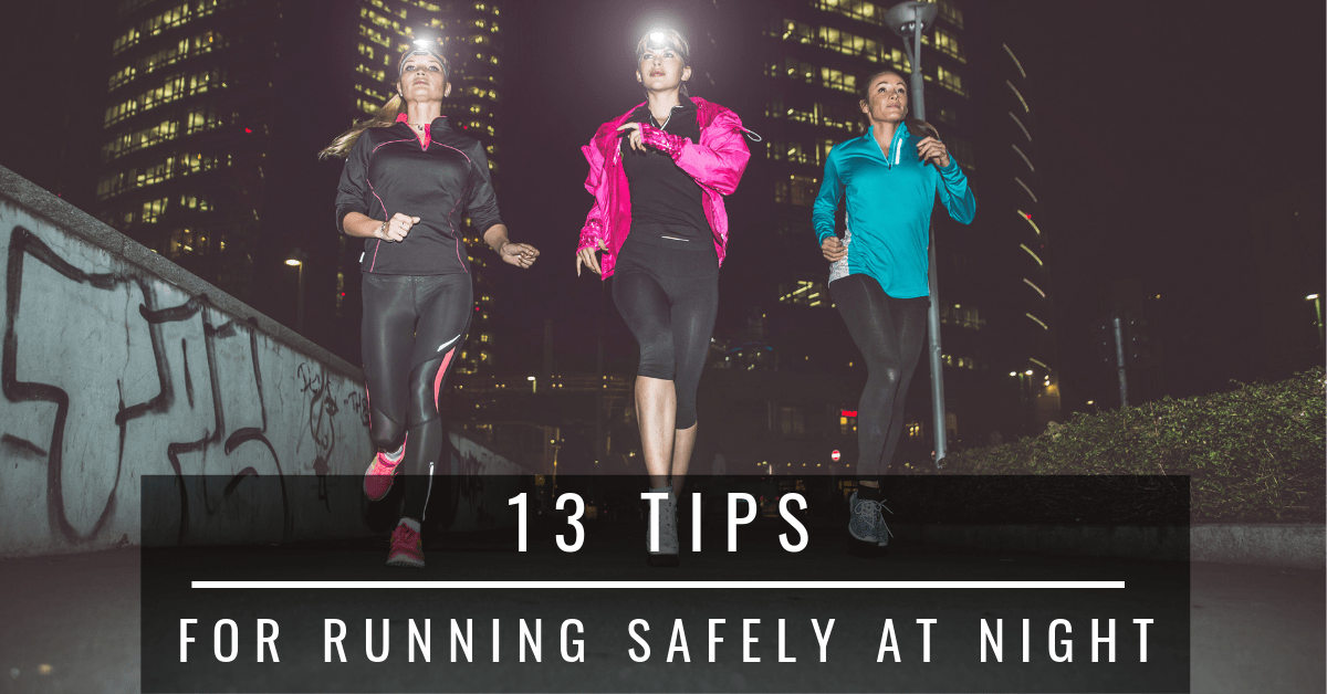 running safely at night
