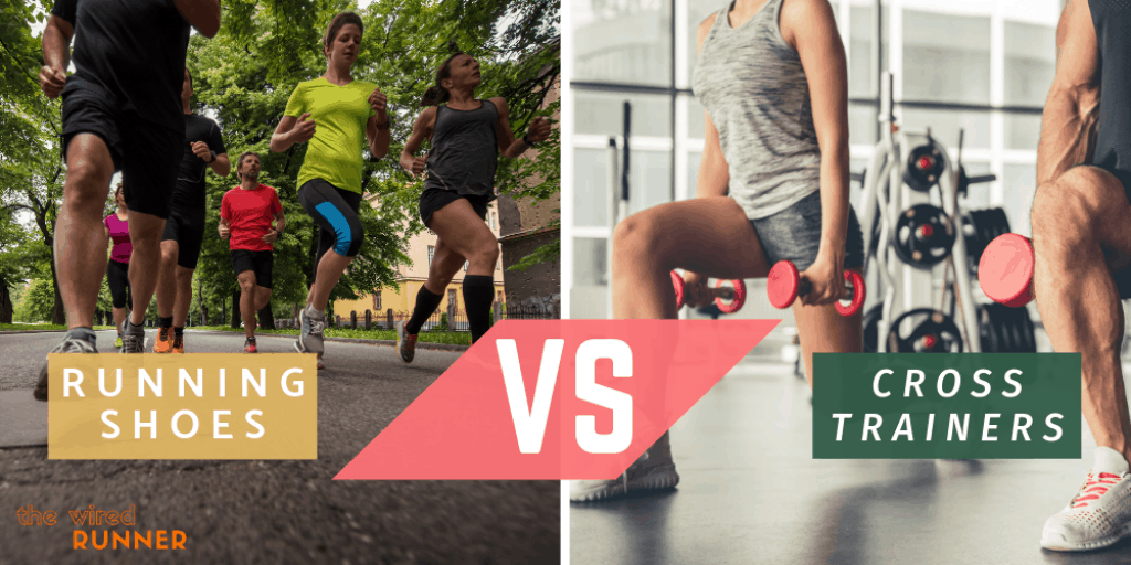 cross trainers vs running shoes