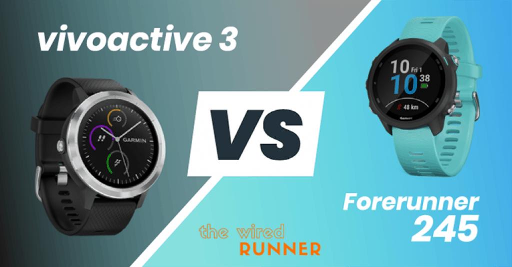 Garmin Forerunner 245 vs vivoactive 3