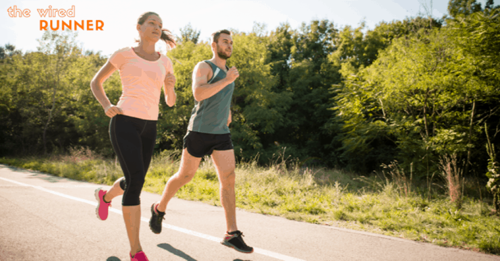 couple running in hot weather