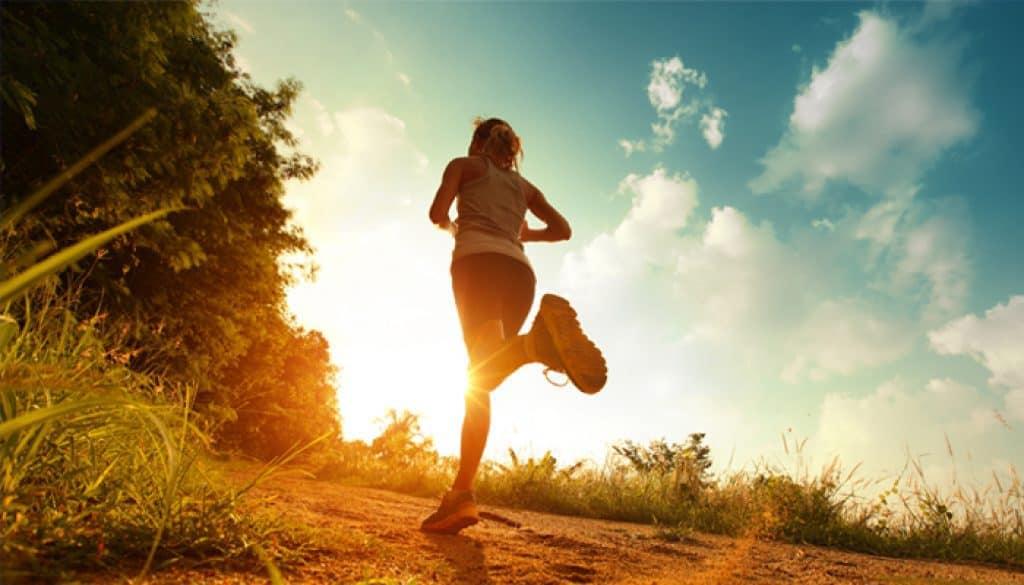corriendo en el calor