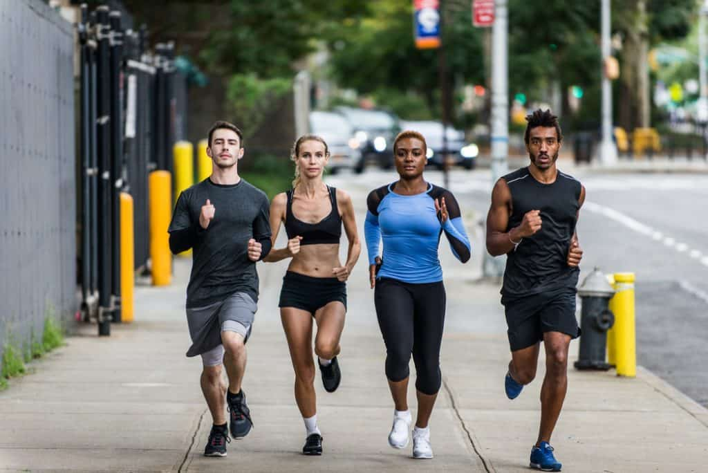 Runners training in New York