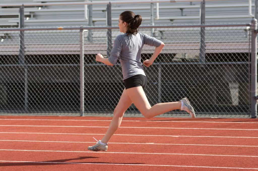 running in tracks
