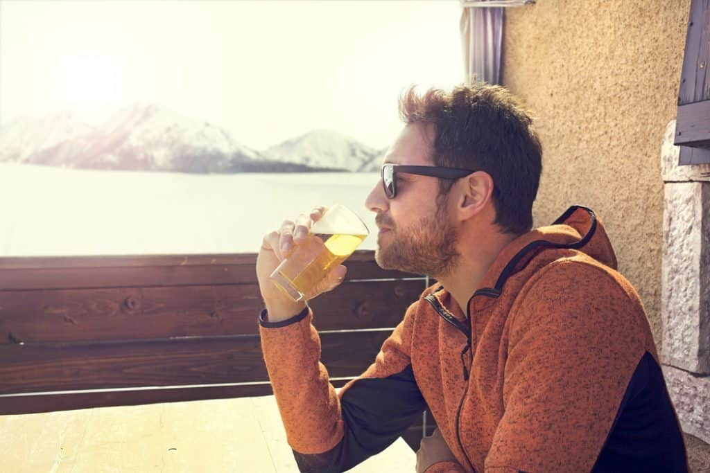 drinking beer after run